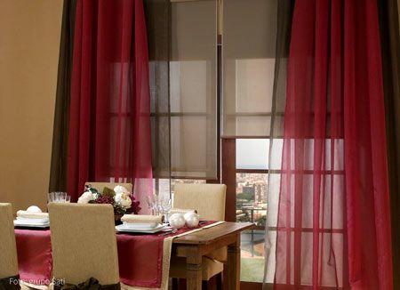 tela para cortinas rojas